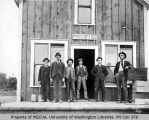 Men outside the Portage Post Office, 1903