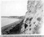 G. Still with camera on side of cliff, southeast of Ft. Casey, Whidbey Island, 1900