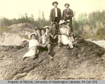 Group on beach, probably Whidbey Island, n.d.