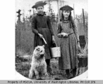 Effie Mace, unidentified girl and dog, n.d.