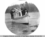Motor launch JUANITA overloaded with passengers, Deception Pass, n.d.