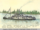 Drawing of the steamship ZEPHYR by O.S. Van Olinda, n.d.