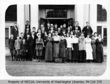 Vashon school showing students and teachers, ca. 1928