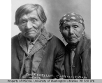 Chief Snatelum and his wife Katie, Snohomish [Skagit?] man and woman, Coupeville, Washington, ca....