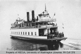 Car ferry WASHINGTON leaving Vashon Heights on first trip, August 16, 1919