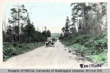Automobile on the Quartermaster-Center Road, Vashon Island, 1916