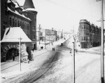 Looking north on St. Helens Avenue in the snow, Tacoma, January 31, 1893
