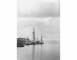 Looking north at wharf from Commercial Dock, Tacoma, November 10, 1901