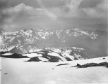 From summit of Mount Rainier, looking south toward Paradise Park and Tatoosh Range, July 29, 1896