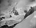 Liberty Cap and Columbia Crest, looking over South Mowich Glacier, Mount Rainier, July 21, 1897