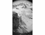 Looking northeast at south peak of Mount Rainier and head of Kautz Glacier, July 22, 1897