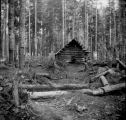 Log cabin, called Star Cabin, Snoqualmie Pass, October 15, 1896
