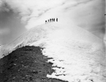 Climbers at Columbia Crest, highest point on Mount Rainier, July 28, 1896