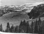 Looking over North and South Tahoma Glaciers, southwest  slope of Mount Rainier, July 22, 1897