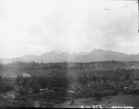 Olympic Mountain Range viewed from east side of Port Angeles, July 14, 1898