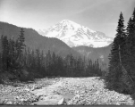 South peak of Mount Rainier from Nisqually River, July 31, 1895