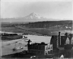 Looking east at Mount Rainier from City Hall tower, Tacoma, December 29, 1894