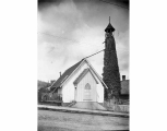 Old church tower and St. Peter's Episcopal Church, Tacoma, May 23, 1893