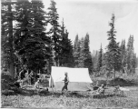 Tent and camp outfit, Mount Rainier, August 19, 1895