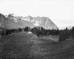 Right-hand portion of panorama of Tatoosh Range viewed from Camp in the Clouds, Mount Rainier,...