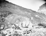 Wall of ice at mouth of Nisqually Glacier, August 27, 1895