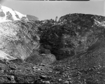 Wall of ice at mouth of Nisqually Glacier, August 4, 1895