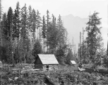 Cabin belonging to William Thompson, near Mount Baker, August 14, 1894