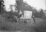 Delivering a piano on a wagon, Fall City,  July 17, 1907