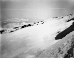 The summit of Mount Rainier, from the base of Columbia Crest, looking southeast over the crater,...