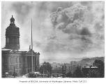 King County Courthouse exterior and a view south toward Beacon Hill, n.d.
