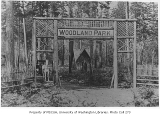 Woodland Park entrance gate,  Seattle, n.d.