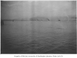 Elliott Bay, probably showing the Great White Fleet in Seattle, May, 1908