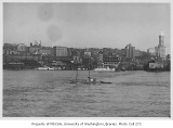 Elliott Bay looking east toward Seattle waterfront between Colman Dock and Arlington Dock Co., n.d.