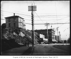 1st Ave. looking southeast from Pine St., Seattle, probably before the second phase of the Denny...