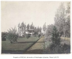 Woodland Park looking north along the promenade and past the gate house, Seattle, n.d.