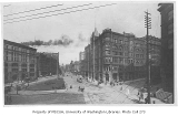 1st Ave. looking northwest  from James St., Pioneer Square district, Seattle, n.d.