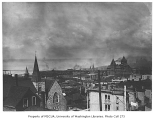 Seattle, looking northwest over James St. and the Trinity Parish Episcopal Church, Seattle, n.d.