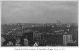 Seattle, looking east from 2nd Ave. and Pine St. toward the First Hill neighborhood and Seattle,...