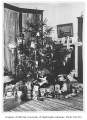 Christmas tree and gifts, probably the Warner residence, Seattle, n.d.