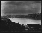Seattle, looking west toward Lake Union and Queen Anne from a residential area in the Capitol Hill...