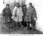 Four Eskimo women, possibly Unalaska, ca. 1899