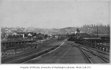 Looking southeast from railroad tracks at King St. toward Beacon Hill, Seattle, ca. 1886