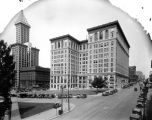County-City Building, L.C. Smith Building and City Hall Park seen from 4th Ave., Seattle, ca. 1931