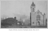 Pine St. looking northeast from 3rd Ave. showing the First Methodist Protestant Church on the...