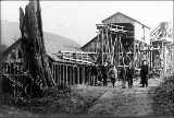 Coal bunkers, Issaquah, Washington, ca. 1910
