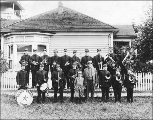 Happy Valley Band, probably vicinity of Redmond, Washington, 1912