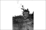 Calkins Hotel on fire, King County, Washington, 1908