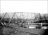 Bridge near Olympia, Washington, ca. 1895