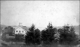 Old Town Hall taken from Parker place on 5th St. looking north, Olympia, Washington, ca. 1875