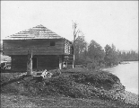 Blockhouse at Fort Borst, left bank of the Chehalis River near Centralia, Washington, ca. 1899